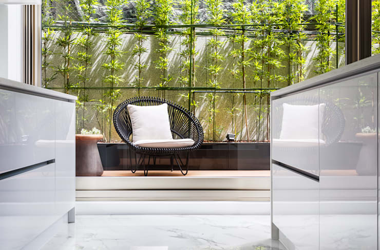 居家庭園設計:  前院 by 大地工房景觀公司