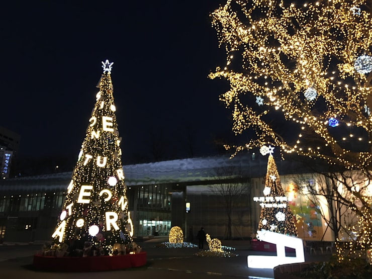 크리스마스 트리 시공: Lightners의  계단