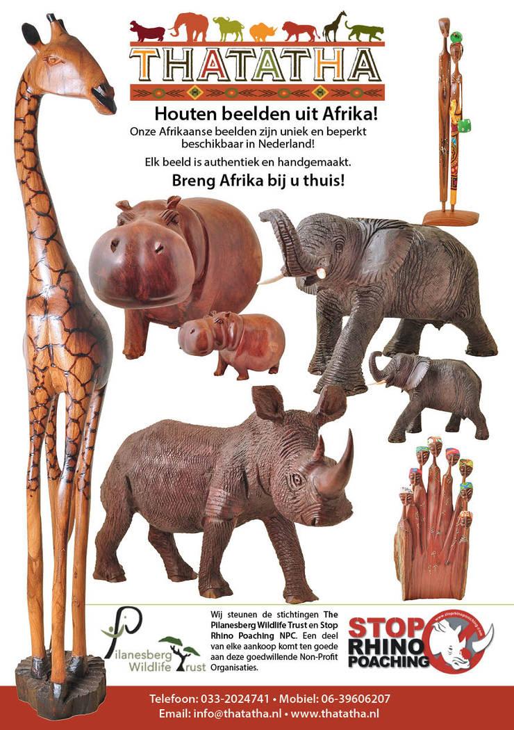 Houten beelden uit Afrika!:   door Thatatha, Koloniaal Hout Hout