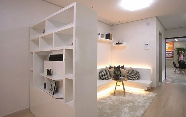 안산 센터하임 오피스텔 모델하우스 / F2-Type: 에이프릴디아의  거실,