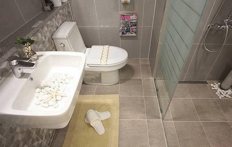 안산 센터하임 오피스텔 모델하우스 / F2-Type: 에이프릴디아의  욕실,