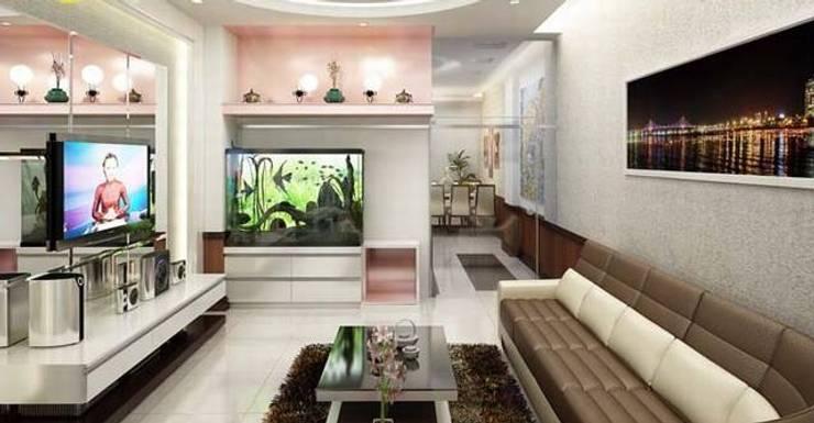 Phòng khách rộng thoáng:  Phòng khách by Công ty TNHH Thiết Kế Xây Dựng Song Phát