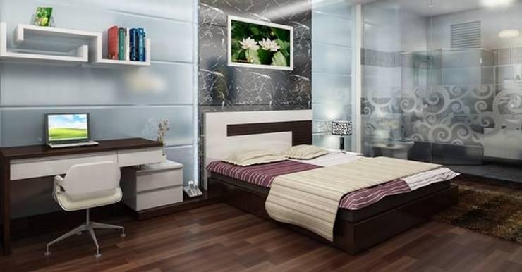 Không gian yên tĩnh giúp gia chủ được nghỉ ngơi thoải mái:  Phòng ngủ by Công ty TNHH Thiết Kế Xây Dựng Song Phát