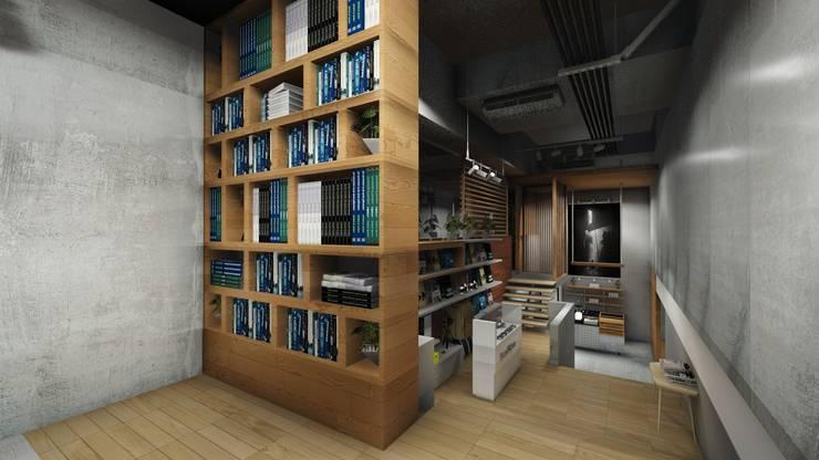 Bookstore Area:  Kantor & toko by ARAT Design