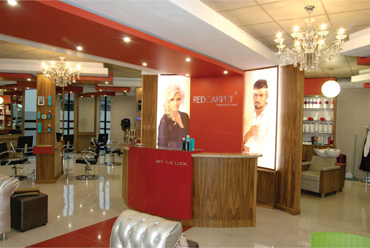 Red Carpet Hairdressing :  Commercial Spaces by ANTONIO DE FRANCA HOME DESIGNS