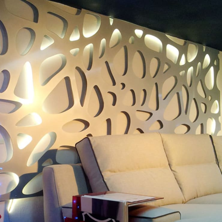 Wandrooster Organic:  Slaapkamer door Deco Wall