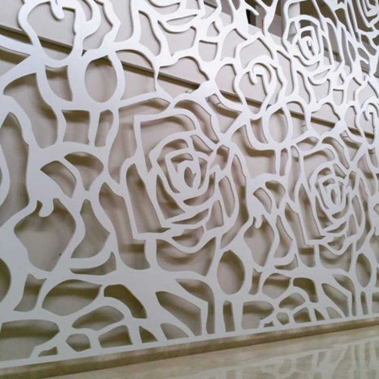 wandrooster Roses:  Gang, hal & trappenhuis door Deco Wall
