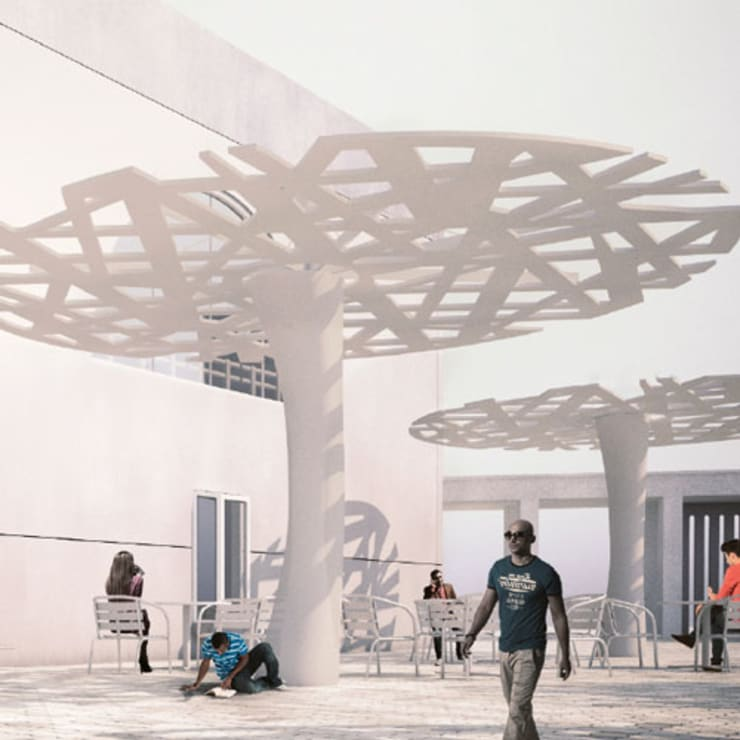 Urban Tree:  Tuin door Deco Wall