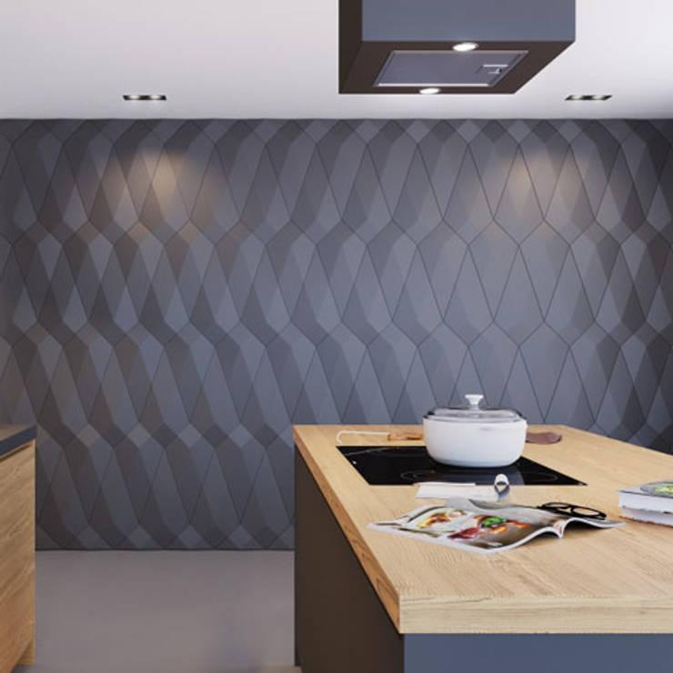 3D wandpanelen:  Huizen door Deco Wall