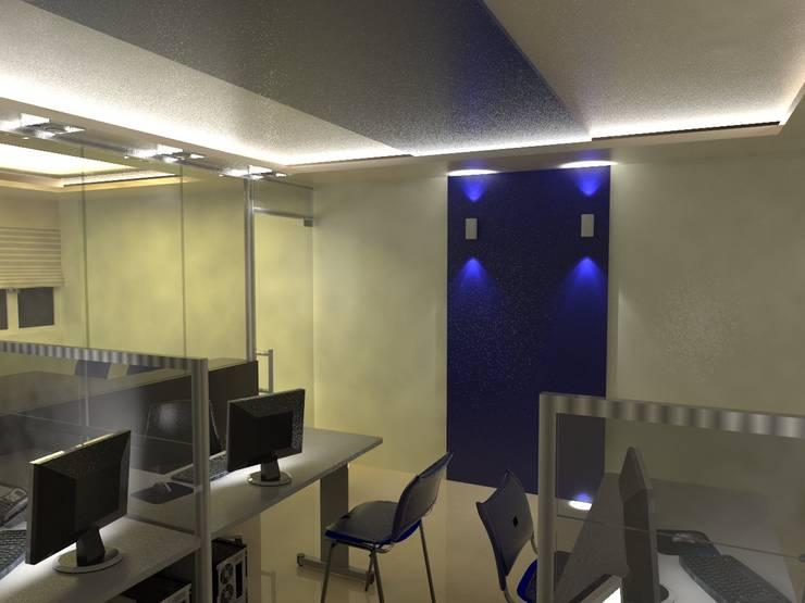Diseño interior Oficina: Oficinas de estilo moderno por MAHO arquitectura y diseño, C.A
