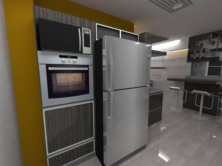 Diseño Interior vivienda: Cocina de estilo  por MAHO arquitectura y diseño, C.A