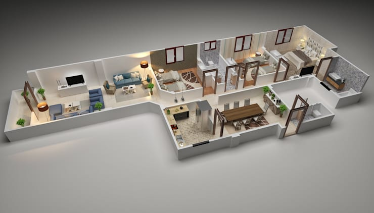 3D plans :   تنفيذ Touch-studios