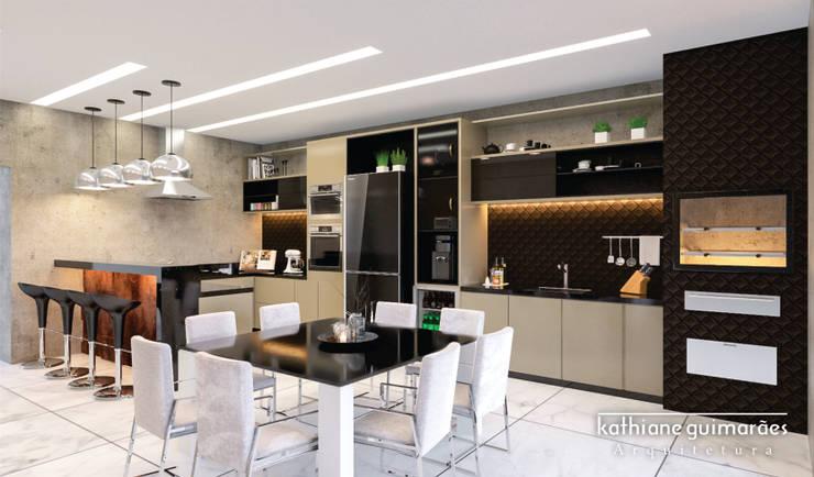 Cozinha : Cozinhas embutidas  por Kathiane Guimarães Arquitetura e Interiores,Moderno MDF