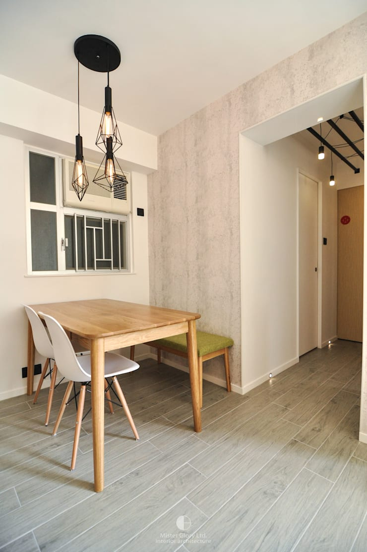 3: industrial Dining room by Mister Glory Ltd