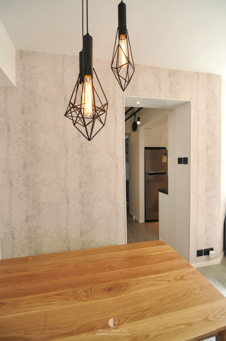 5: industrial Dining room by Mister Glory Ltd