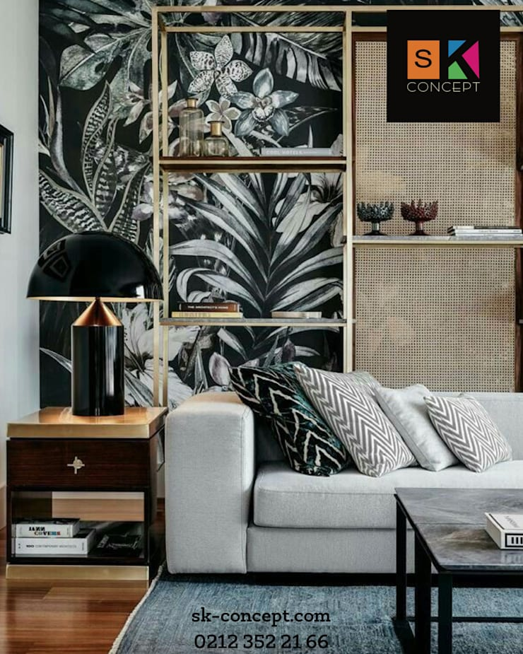 กำแพง โดย SK Concept Duvar Kağıtları , เมดิเตอร์เรเนียน