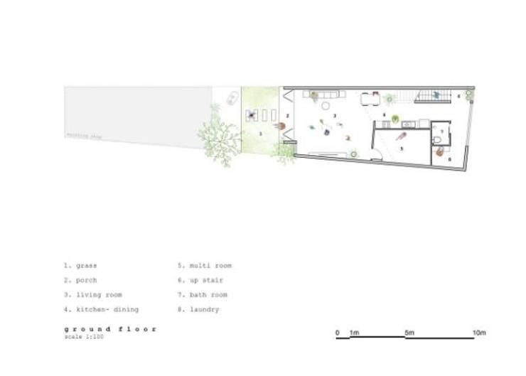 Bản vẽ thiết kế mặt bằng tầng 1:  Nhà gia đình by Công ty TNHH Xây Dựng TM – DV Song Phát