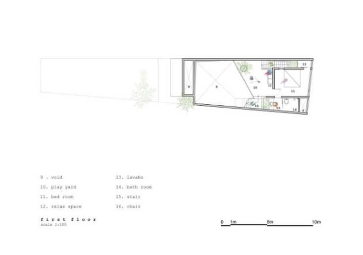 Bản vẽ thiết kế mặt bằng tầng 2:  Nhà gia đình by Công ty TNHH Xây Dựng TM – DV Song Phát