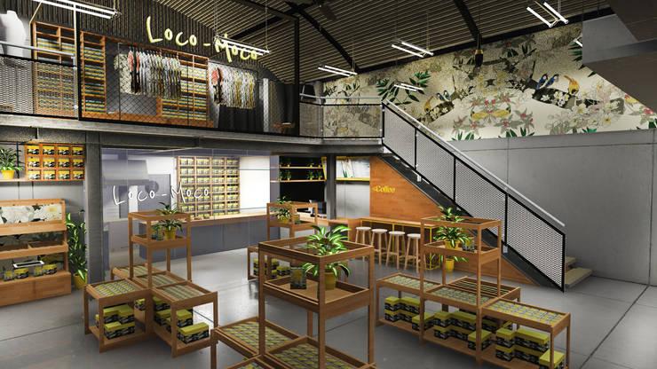 Retail Area lantai 1 A:  Ruang Komersial by ARAT Design