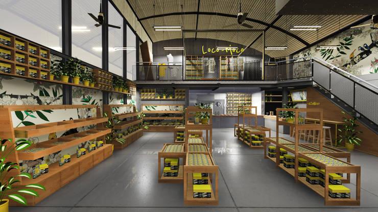 Retail Area lantai 1 B:  Ruang Komersial by ARAT Design