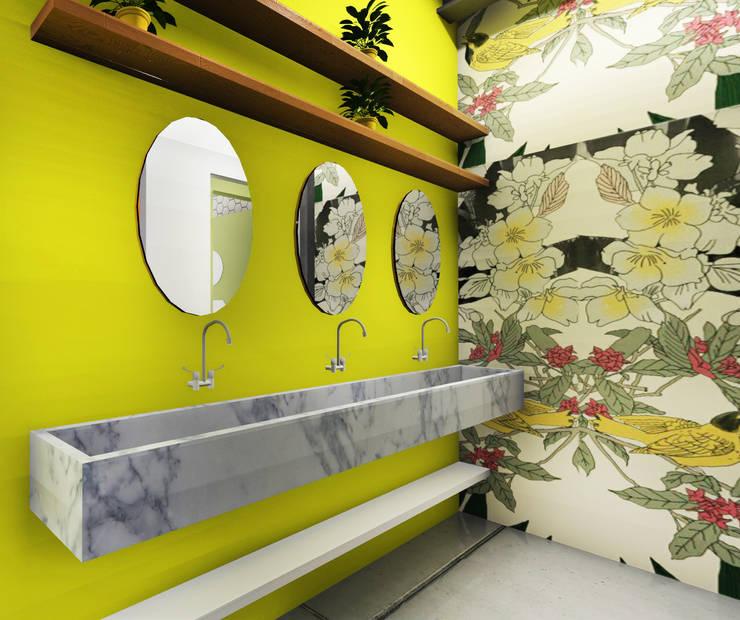 Bathroom:  Ruang Komersial by ARAT Design