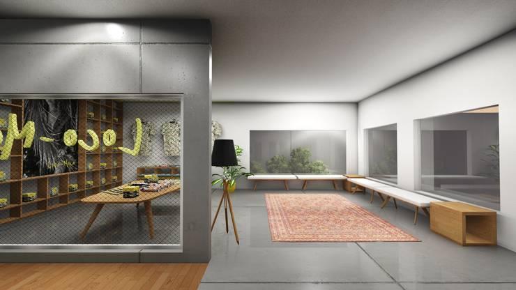 Retail Area lantai 1C:  Ruang Komersial by ARAT Design