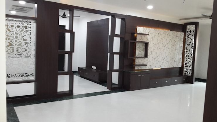 Residence@Hitech City: minimalistic Living room by Studio Neev Interiors & Architects