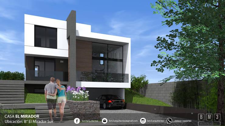 Fachada : Casas unifamiliares de estilo  por BM3 Arquitectos