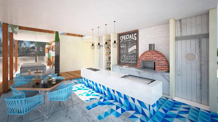Cocinas de estilo  por Art.chitecture, Taller de Arquitectura e Interiorismo 📍 Cancún, México.