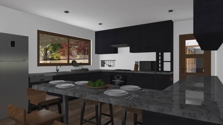 CASA M-M: Cocinas de estilo  por Pro Aus Arquitectos