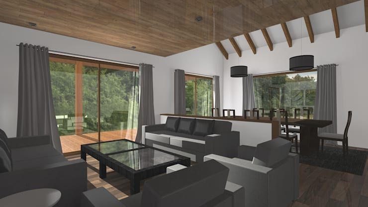 CASA M-M: Livings de estilo minimalista por Pro Aus Arquitectos
