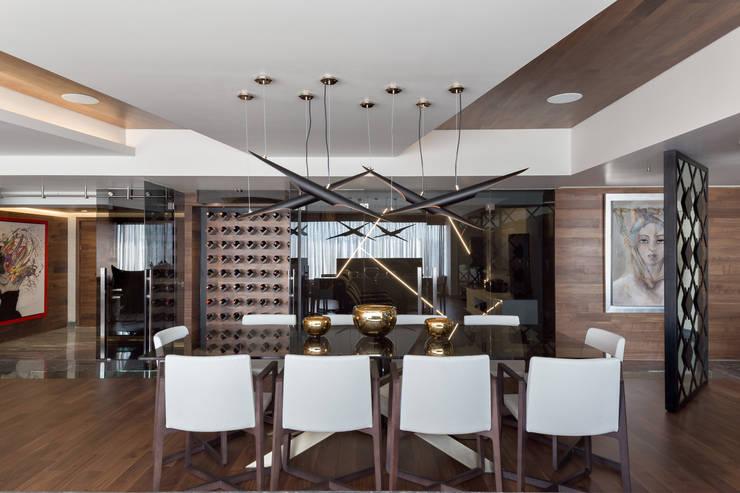 Remodelación Departamento Frondoso, CDMX.: Comedores de estilo  por Art.chitecture, Taller de Arquitectura e Interiorismo 📍 Cancún, México.