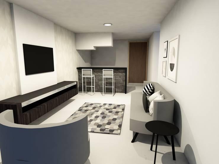 Diseño Apartamento zona social: Hogar de estilo  por TICKTO STUDIO