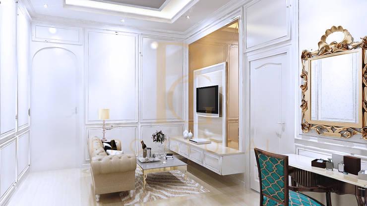 Sofa dan Backdrop TV:  Bedroom by Pro Global Interior