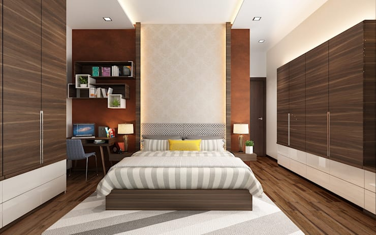 Subramaniam krishnan: modern Bedroom by Neelanjan Gupto Design Co