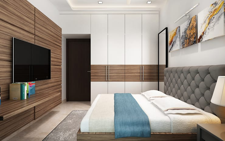 Subramaniam krishnan: modern Bedroom by Neelanjan Gupto Design Co