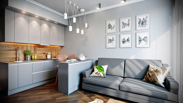 Домашнее путешествие: Встроенные кухни в . Автор – CO:interior
