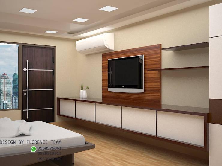 TV unit : modern Bedroom by Florence Management Services