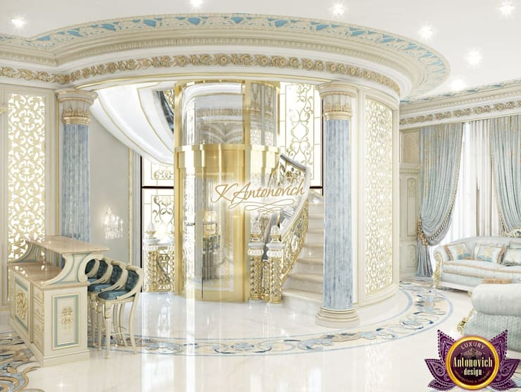 Corridor & hallway by Luxury Antonovich Design, Classic