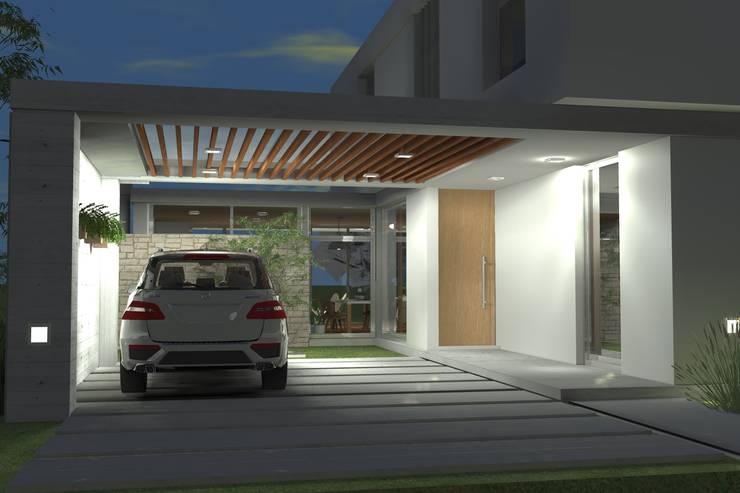 โรงรถและหลังคากันแดด โดย Arquitectura Bur Zurita, โมเดิร์น