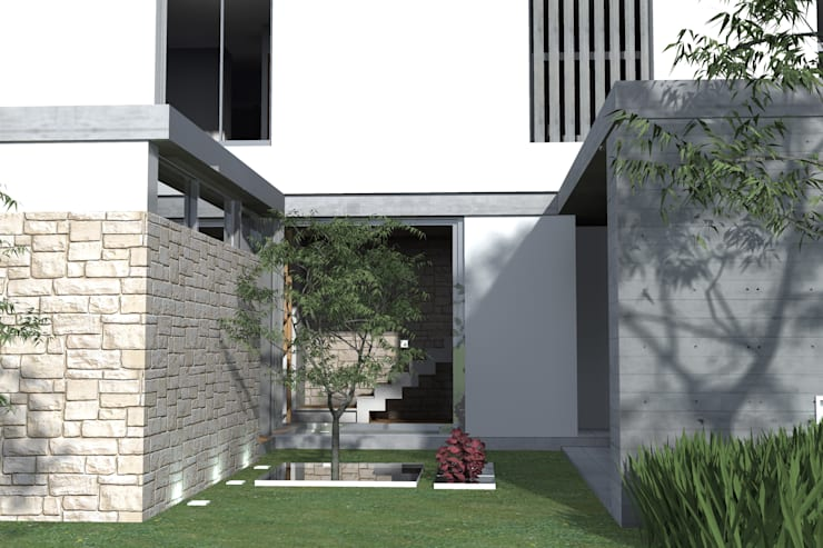Garden by Arquitectura Bur Zurita, Modern