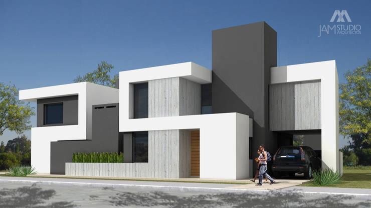 FACHADA DUPLEX 2: Casas unifamiliares de estilo  por JAMStudio