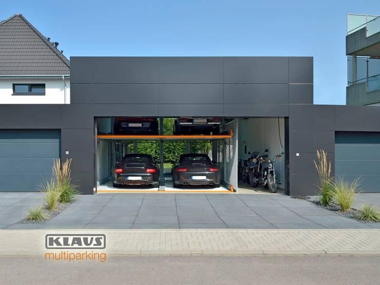 MultiBase 2072 Jüchen, Alemania: Garajes de estilo moderno por KLAUS MULTIPARKING COLOMBIA