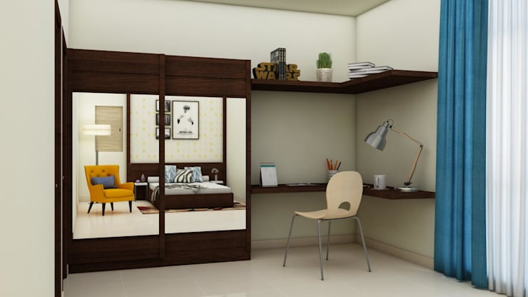 Wardrobe and Study table:  Bedroom by NVT Quality Build solution
