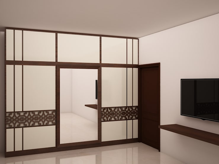 Wardrobe and  TV unit :  Bedroom by NVT Quality Build solution