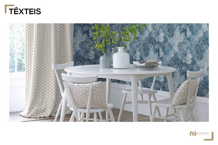 Têxteis: Salas de jantar  por MyStudiohome - Design de Interiores
