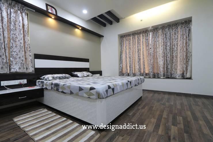 Master bedroom interior design: modern Bedroom by Designaddict