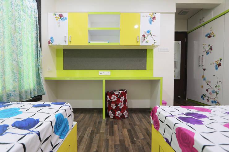 Total Interior design work in Wakad, Pune:  Baby room by Designaddict