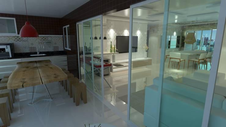 Projeto de Interiores Residencial: Salas de estar  por Eduardo Torres Arquitetura e Design