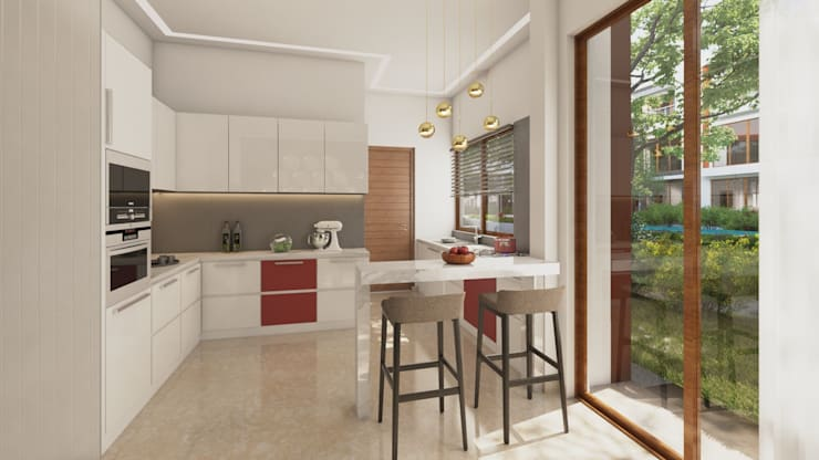Modern Kitchen :  Kitchen by NVT Quality Build solution